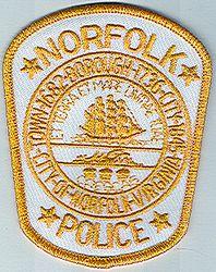 Norfolk Police Patch (gold/white) (VA)