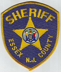 Sheriff: NJ, Essex Co. Sheriff Patch (blue/gold, state seal)