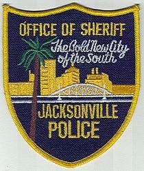 Sheriff: FL. Jacksonville Police/Office of Sheriff (black/yellow/large)