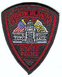 State: RI. State Police Patch (cap size)
