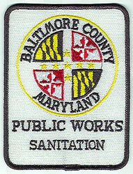 Baltimore Co. Public Works Sanitation Patch (MD)