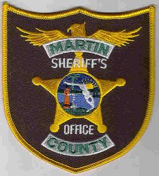 Sheriff: FL, Martin Co. Sheriffs Office Patch (gold star)