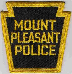 Mt. Pleasant Police Patch (keystone, merrowed edge) (PA)