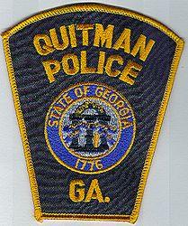 Quitman 1776 Police Patch (gold edge) (GA)