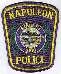 Napoleon Police Patch (blue edge) (OH)
