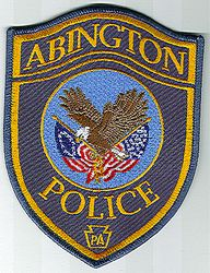 Abington Police Patch (gold letters) (PA)