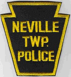 Neville Twp. Police Patch (cut edge) (PA)