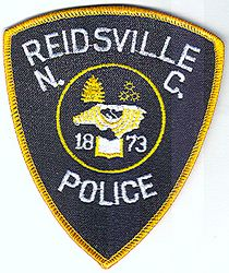 Reidsville Police Patch (gold edge) (NC)