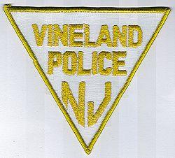 Vineland Police Patch (white/yellow edge) (NJ)
