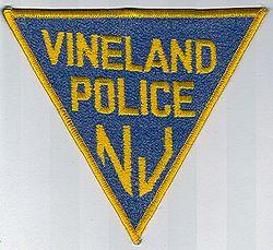 Vineland Police Patch (blue/gold edge) (NJ)