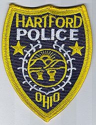 Hartford Police Patch (yellow/merrowed edge)(OH)