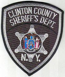 Sheriff: NY, Clinton Co. Sheriffs Dept. Patch (black/gray)