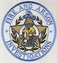 Fire & Arson Investigations Patch (round) (FL)