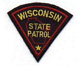 State: WI. State Patrol Patch (cap size)