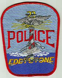Eddystone Police Patch (red edge) (PA)