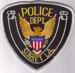 Sunset Police Patch (black/white edge) (LA)