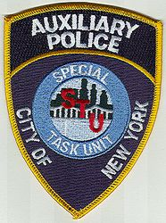 New York City Aux. Special Task Unit Police Patch (NY)