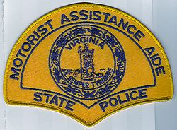 Motorist Assistance Aide State Police Patch (VA)