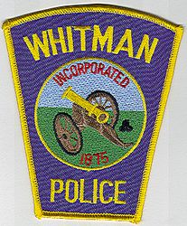 Whitman Police Patch (cannon)(MA)