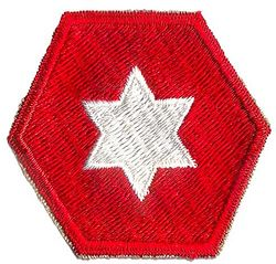 6th ARMY PATCH (OLD STYLE)