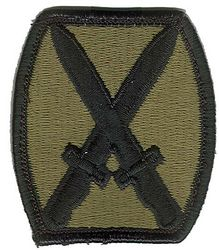 10th MOUNTAIN DIVISION, SUBDUED
