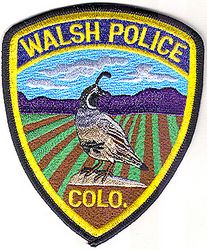 Walsh Police Patch (CO)