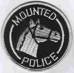 Misc: Mounted Police Patch (black/white)
