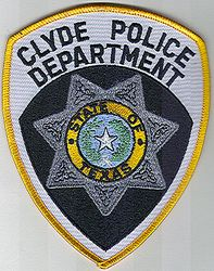Clyde Police Dept. Patch (TX)