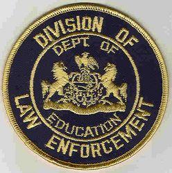 School: PA, Dept. of Education Division of Law Enforcement Patch