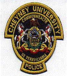 School: PA, Cheyney University Police Patch