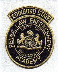 School: PA, Edinboro State Law Enforcement Academy Patch