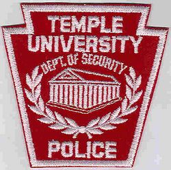 School: PA, Temple Univ. Dept. of Security Police Patch