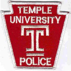 School: PA, Temple Univ. Police Patch (large T)