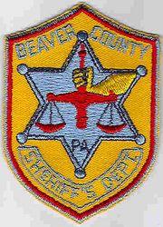 Sheriff: PA, Beaver Co. Sheriffs Dept. Patch (cap size)