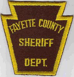 Sheriff: PA, Fayette Co. Sheriffs Dept. Patch