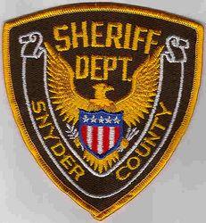 Sheriff: PA, Snyder Co. Sheriffs Dept. Patch