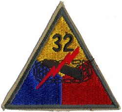 32ND ARMORED DIVISION W/O TAB
