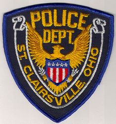 St. Clairsville Police Patch (blue edge) (OH)