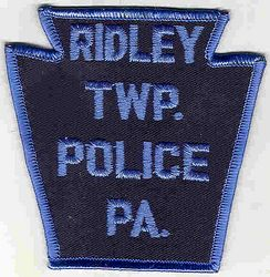 Ridley Twp. Police Patch (light blue letters/edge) (PA)