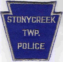 Stonycreek Twp. Police Patch (blue/silver) (PA)