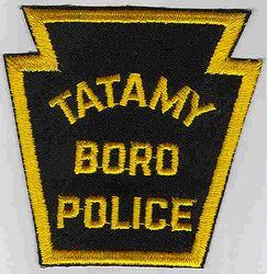 Tatamy Boro Police Patch (gold edge ) (PA)