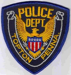 Topton Police Patch (blue edge) (PA)
