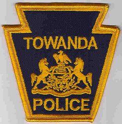 Towanda Police Patch (dark blue/gold) (PA)