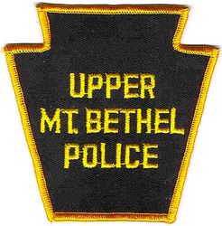 Upper Mt. Bethel Police Patch (gold edge) (PA)