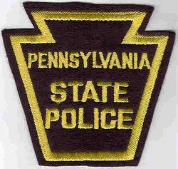 State: PA, State Police Patch (black, felt, obsolete)