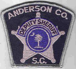 Sheriff: SC. Anderson Co. Deputy Sheriff Patch (small/tree