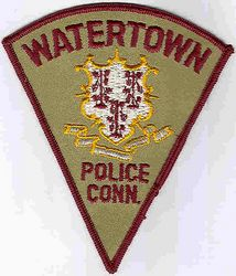 Watertown Police Patch (small, brown) (CT)