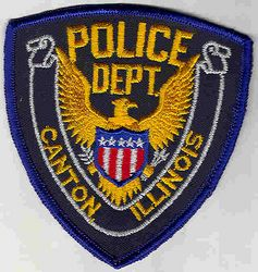 Canton Police Patch (blue edge) (IL)