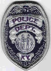 Kentucky Police Patch (silver, badge size) (KY)