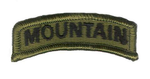 U.S US CLOTH SUBDUED MOUNTAIN SHOULDER TAB